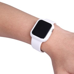 Ремешок силиконовый Apple Watch 38 мм с чехлом под часы