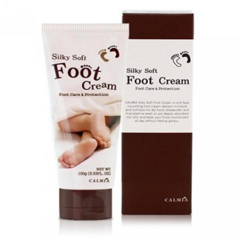 Смягчающий крем для ног с маслом Ши и Макадамии Calmia Silky Soft Foot Cream