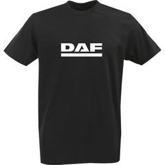 Футболка с однотонным принтом DAF (Даф) черная 003