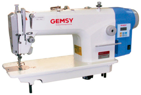 Одноигольная прямострочная швейная машина Gemsy GEM 8801 E-B | Soliy.com.ua