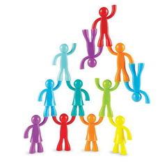 Набор фигурок Разноцветные строители, 32 шт., Learning Resources