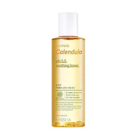 Missha Su:Nhada Calendula pH Balancing & Soothing Toner восстанавливающий тонер с календулой