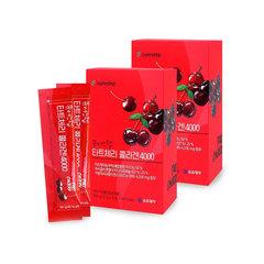 Коллаген со вкусом вишни в форме желе YUYU Pharma Tart Cherry Collagen 4000mg 300гр.(20gX15stick/610kcal)