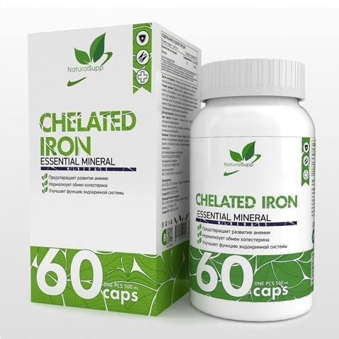 CHELATED IRON (ЖЕЛЕЗО) NaturalSupp, 60капс. Х 25мг.