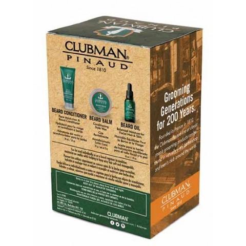 Подарочный набор Clubman: крем-кондиционер, воск-бальзам, масло