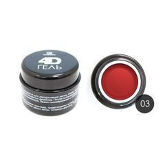 TNL, 4D Гель для дизайна ногтей № 03, красный, 8 мл