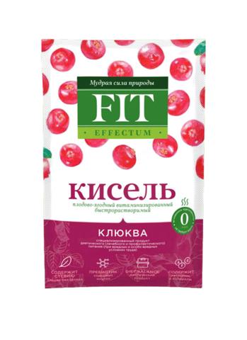 Кисель витаминизированный Клюква Effectum ФитПарад 30г