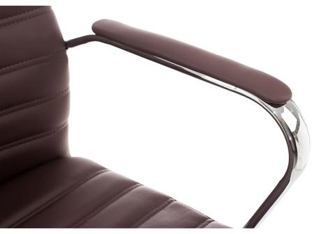 Офисное кресло для персонала и руководителя Компьютерное Tongo коричневое 62*62*93 Хромированный металл /Коричневый