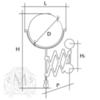 Зеркало оптическое с раскладным держателем Migliore  Complementi   ML.COM-50.319 схема