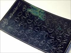 Металлизированные наклейки Arti nails Stiker цвет серебро №12