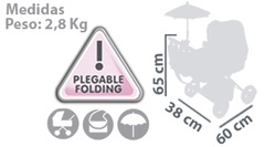 DeCuevas Коляска с сумкой и зонтиком серии Романтик, 65 см (85025)