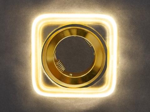 Встраиваемый светильник GP-8029-3W-GO Золото+Диодная подсветка