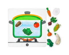 Игровой набор из фетра Овощной суп, Smile decor