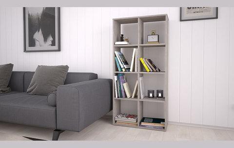 Стеллаж Polini Home Smart Кубический 8 секции, бетон