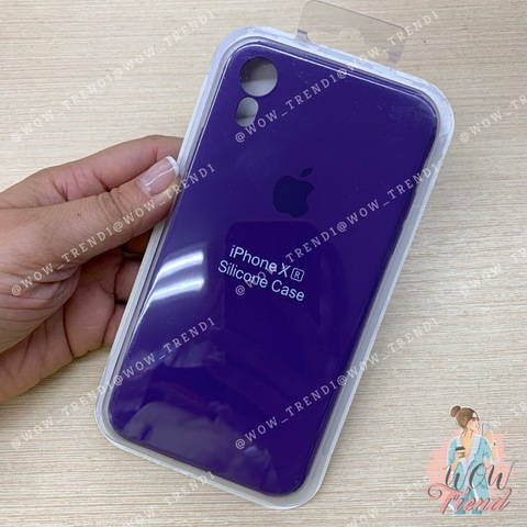 Чехол iPhone XR Silicone Slim Case /ultra violet/