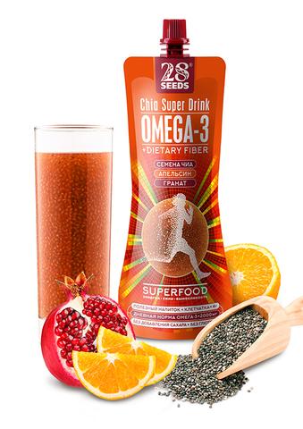 Напиток ЧИА СУПЕРФУД «Апельсин + Гранат» без сахара, 250 г