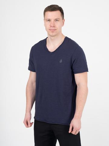 Мужская футболка «Великоросс» цвета неви V ворот