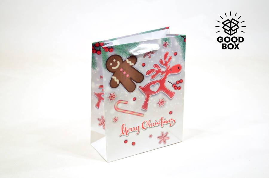 Бумажные пакеты на новый год Алматы