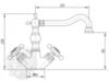 Смеситель для кухни Migliore Arcadia ML.CUC-8351 схема