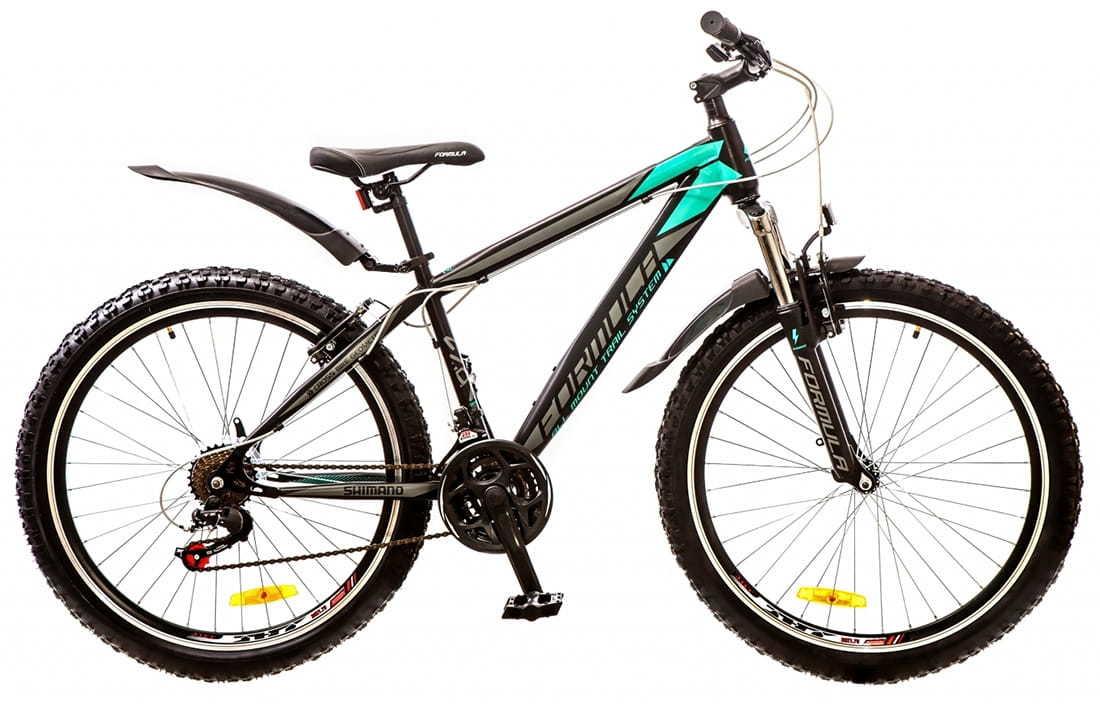 Міський велосипед Formula Nevada чорно-бірюзовий