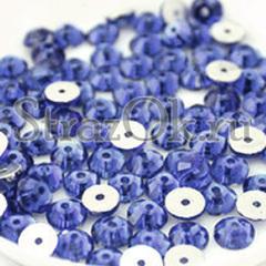 Купить стразы с отверстием оптом Denim Blue синие