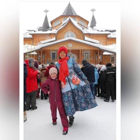 Designer Alisa Tolkacheva in the coat