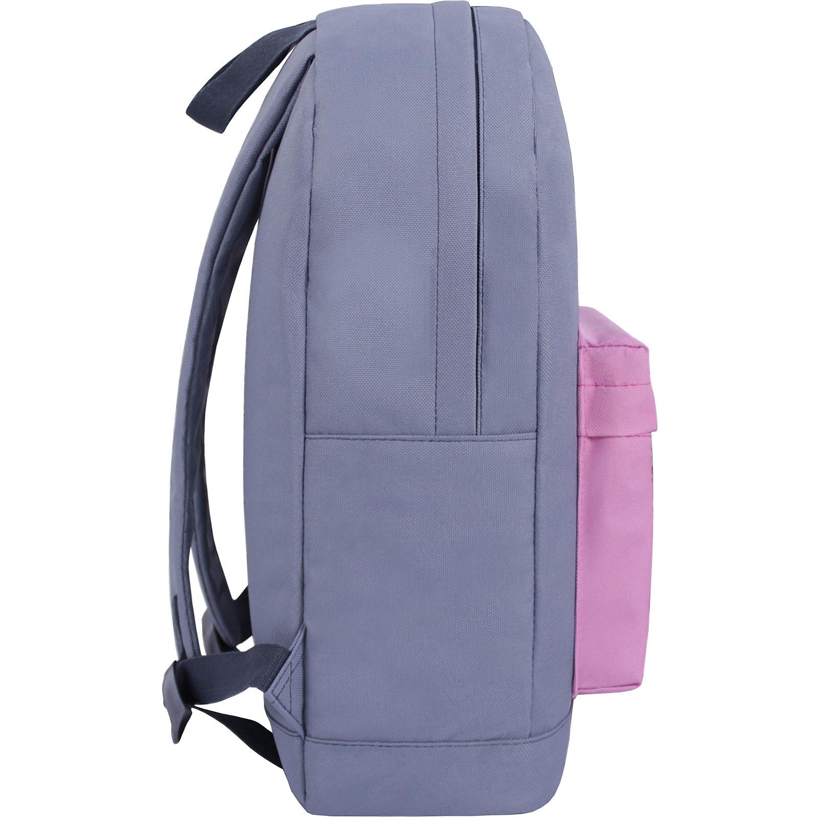 Рюкзак Bagland Молодежный W/R 17 л. серый/розовый (00533662) фото 2