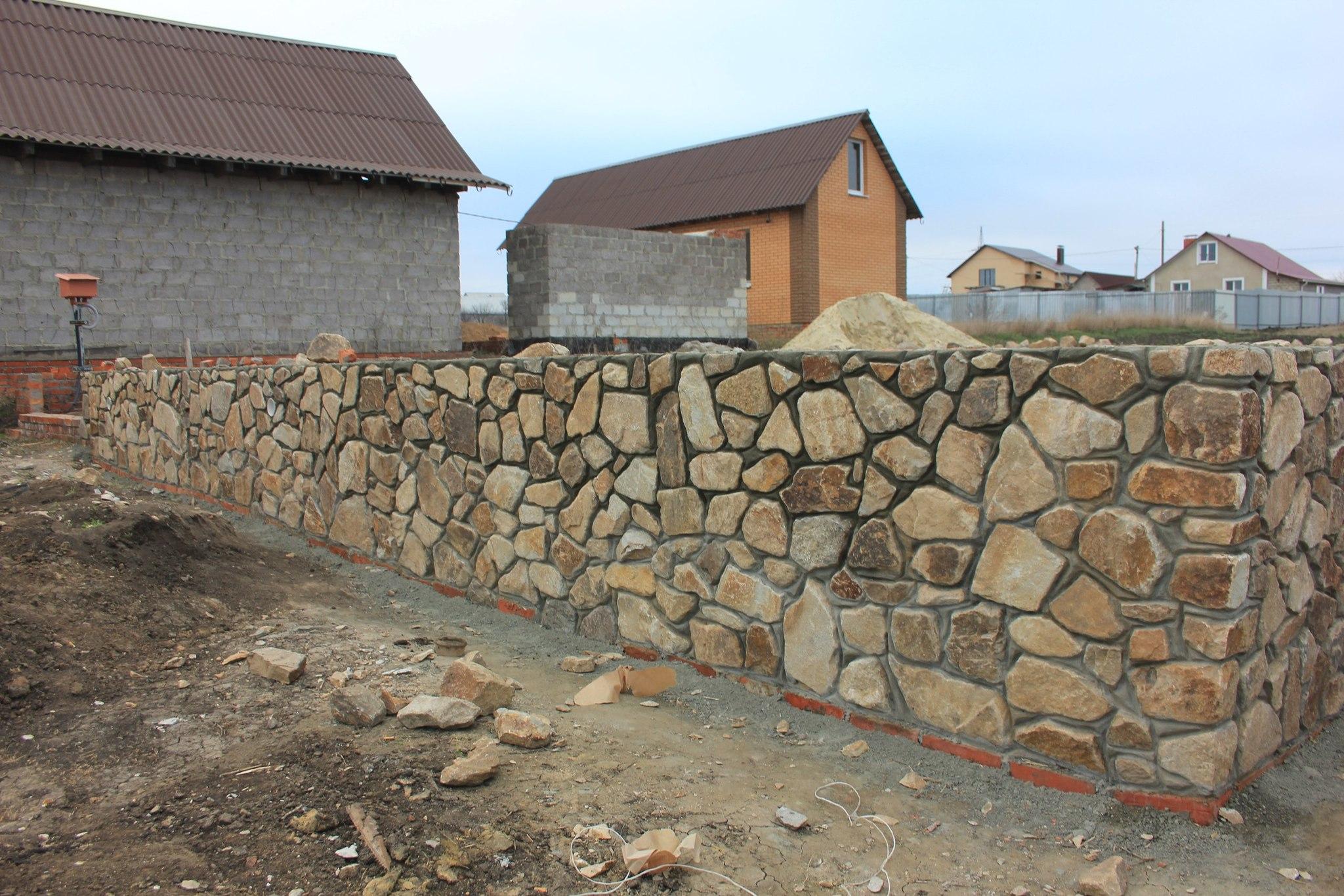 Бутовый камень кладочный Кантри стена