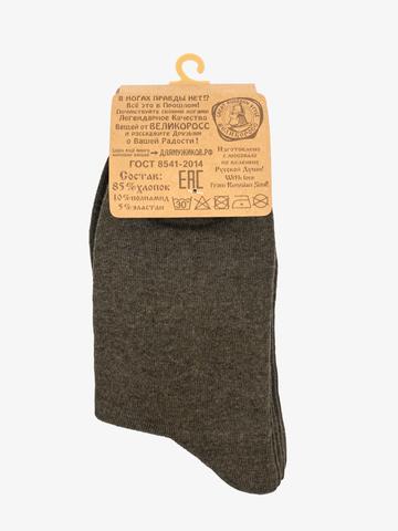 Носки длинные темно-зеленого цвета – тройная упаковка