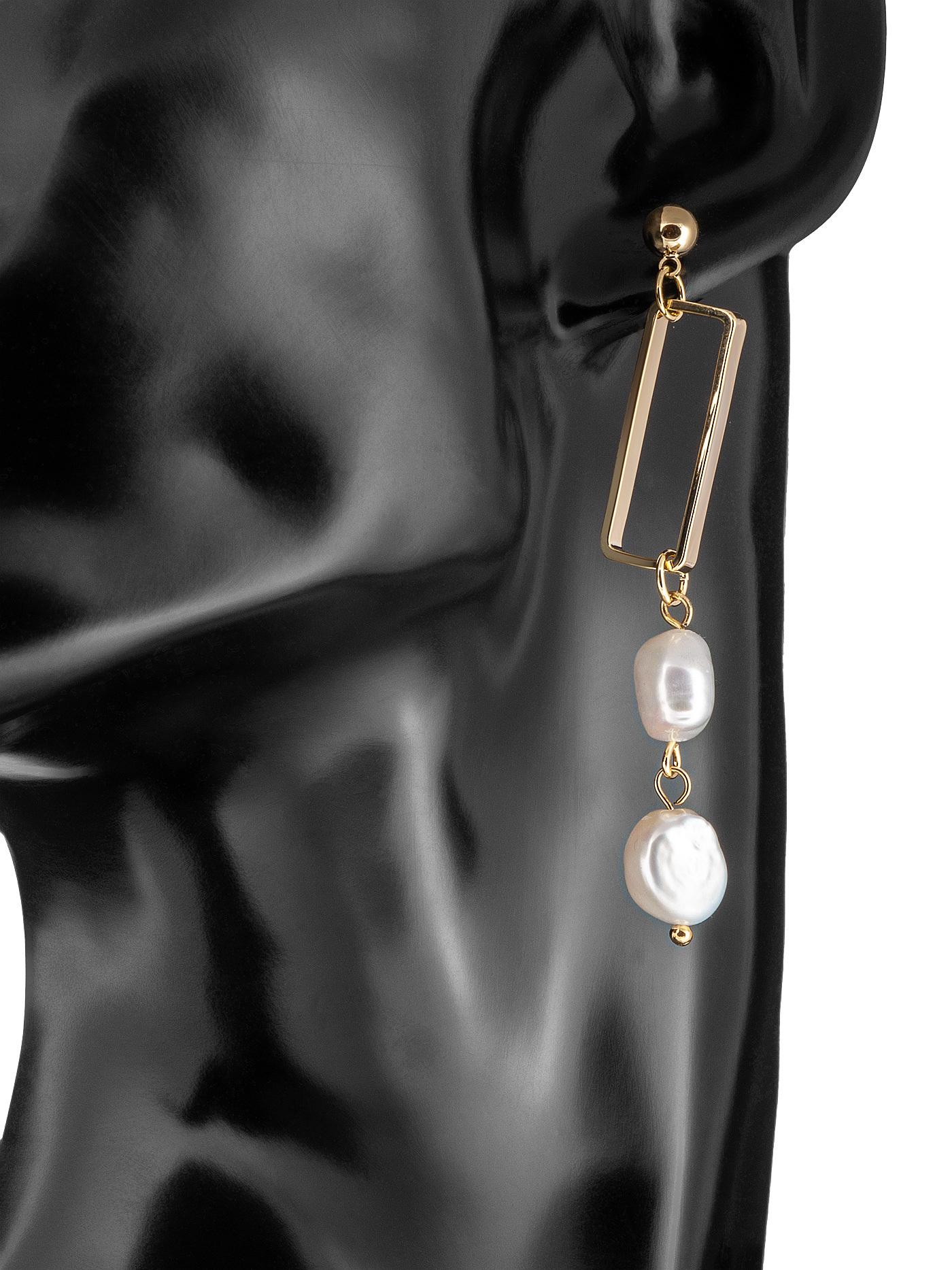 Асимметричные длинные серьги с барочным жемчугом, стильные подарки