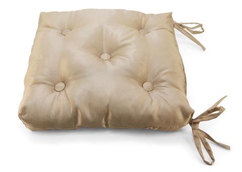 Подушка на стул жаккард Элегия светло-коричневый