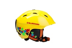 Горнолыжный шлем Blizzard Demon junior neon yellow/colorfull puzzles
