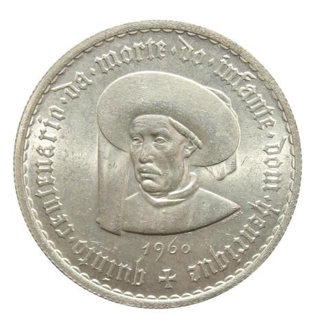 5 эскудо Португалия. 500 лет со дня смерти Генриха Мореплавателя. 1960 г. UNC