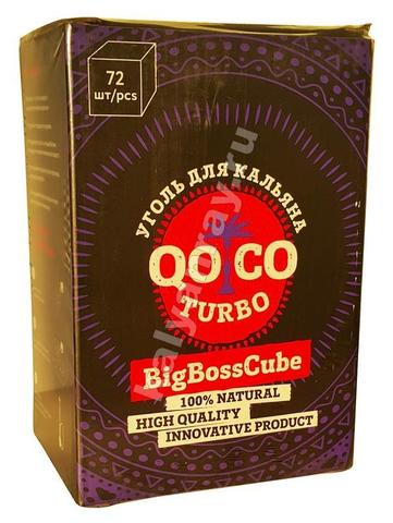 Кокосовый уголь Qoqo Turbo 1 кг 72 кубика
