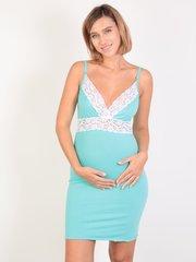 Евромама. Сорочка с кружевом для беременных и кормящих, ментол вид 1