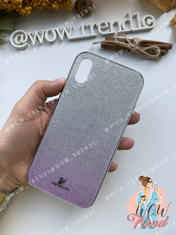 Чехол iPhone 7/8 Plus Swarovski Case /purple/