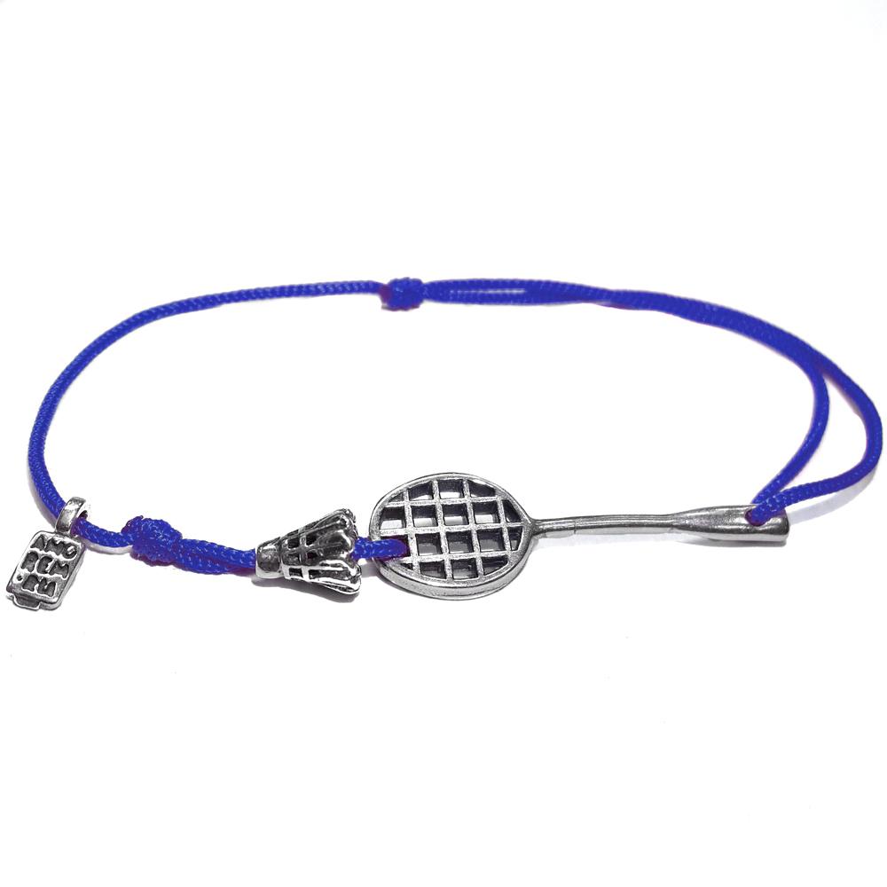 Badminton bracelet, sterling silver
