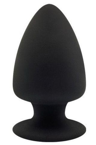 Черная анальная пробка PREMIUM SILICONE PLUG L - 13 см.