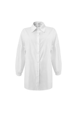 Рубашка хлопковая с рукавами фонариками