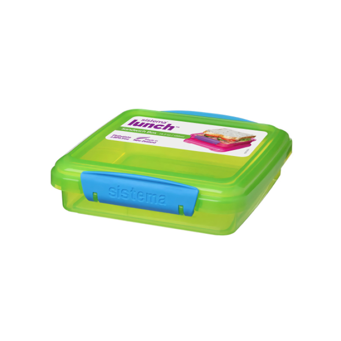 "Контейнер для сандвичей Sistema ""Lunch"" 450 мл, цвет Зеленый"