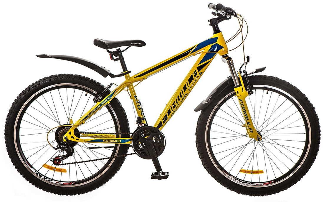Міський велосипед Formula Nevada Жовто-синій
