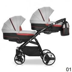 Детская коляска Riko Team 2 в 1 для двойни.