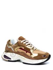 Комбинированные кроссовки Premiata Sharky-d 025 на шнуровке