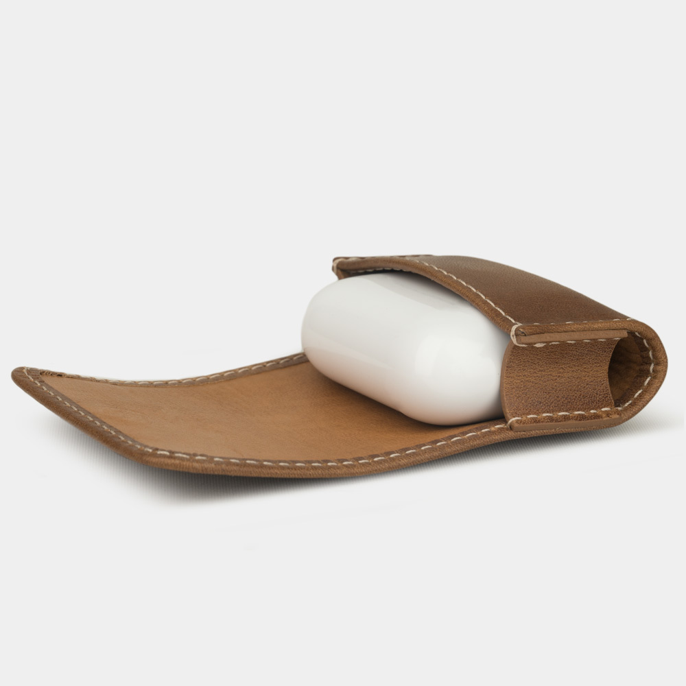 Чехол-держатель для наушников Grand Easy из натуральной кожи теленка, цвета винтаж