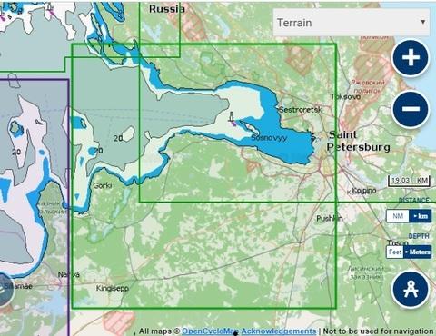 Карта: Река Нева, Невская губа, Navionics+ Small 5G295S
