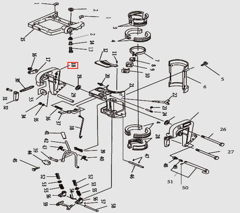 Кронштейн струбцины правый для лодочного мотора T9.8 Sea-PRO (11-18)