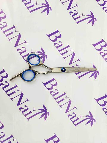 Ножницы парикмахерские с синей рукояткой