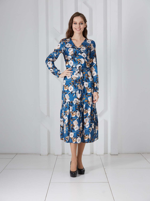 Платье plt-51714f/т-голубой