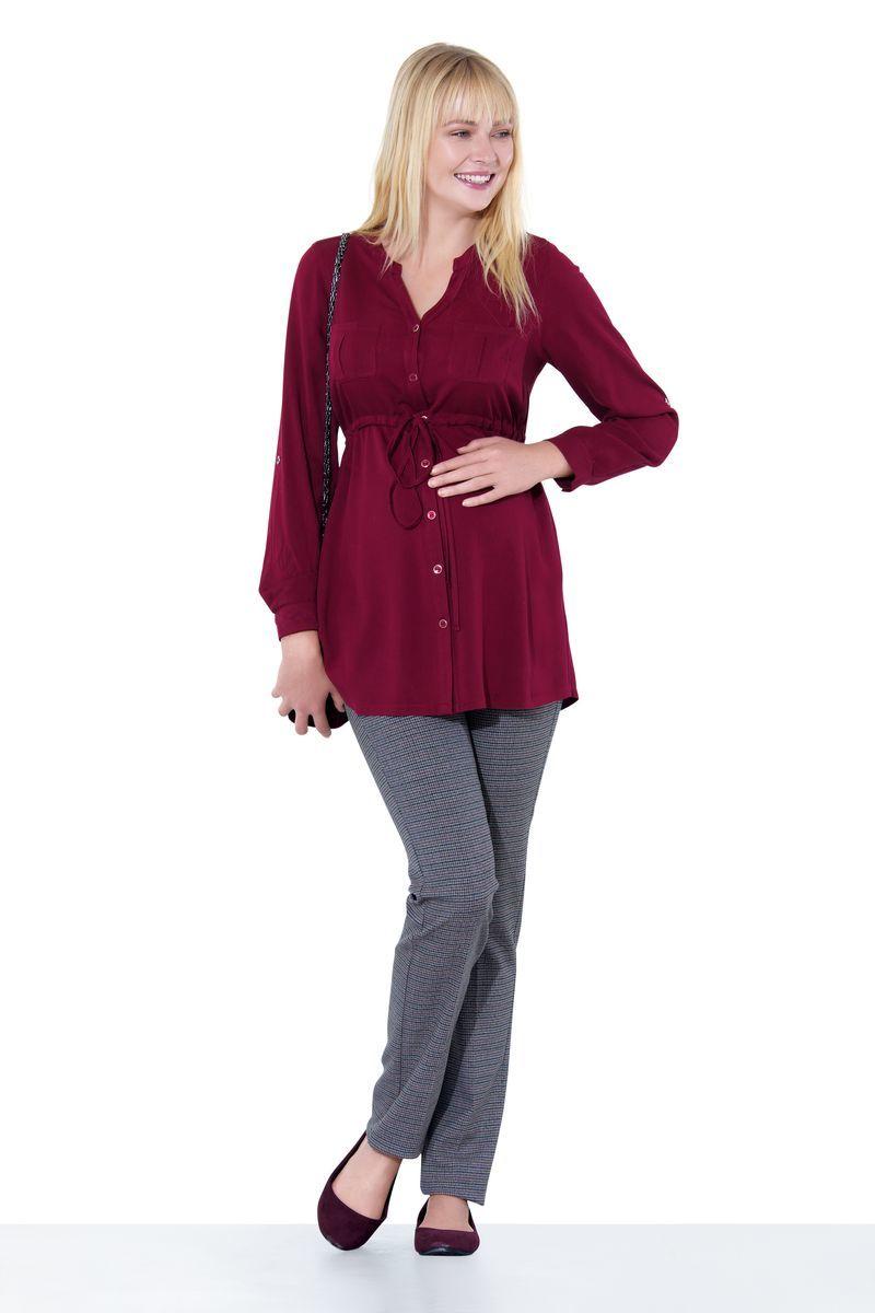 Блузка для беременных 01385 красный