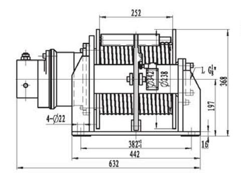 Лебедка свободного сброса IYJ2.5-5-75-8-L-ZPH2